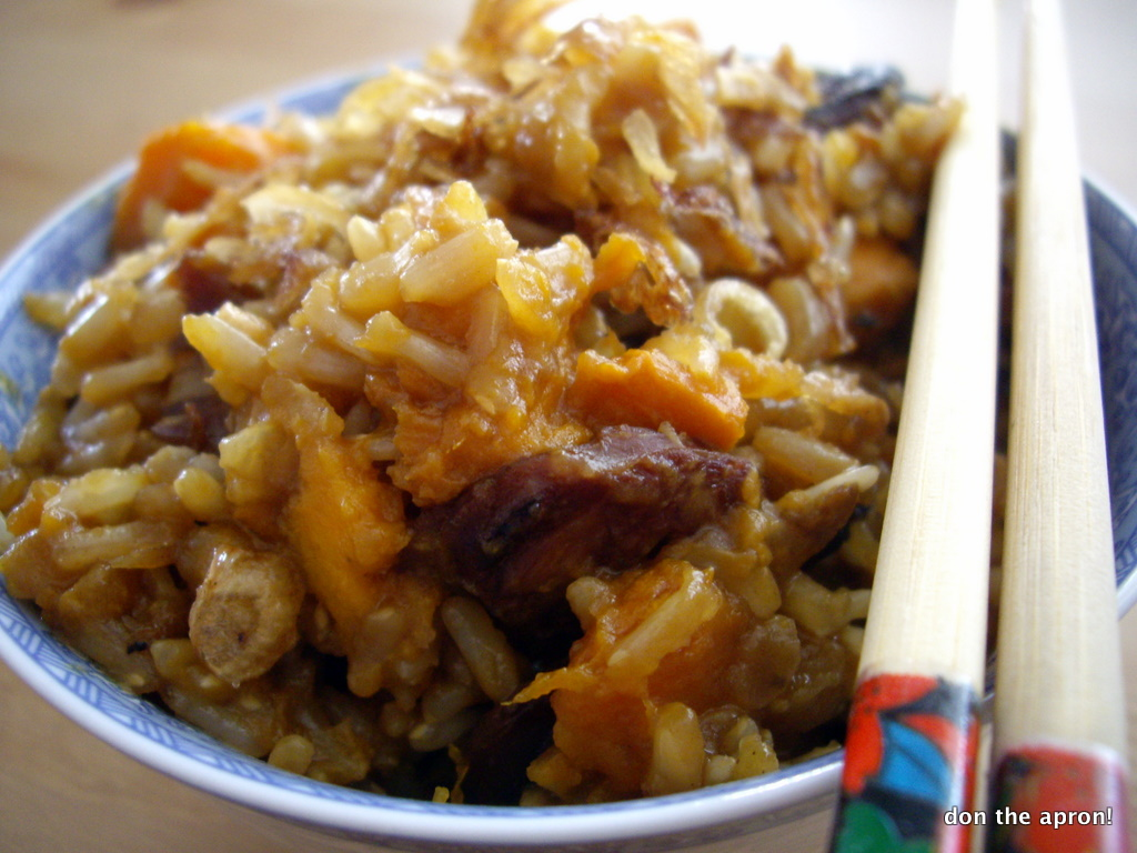 Finals Comfort Food: Yam Rice | Don the Apron!