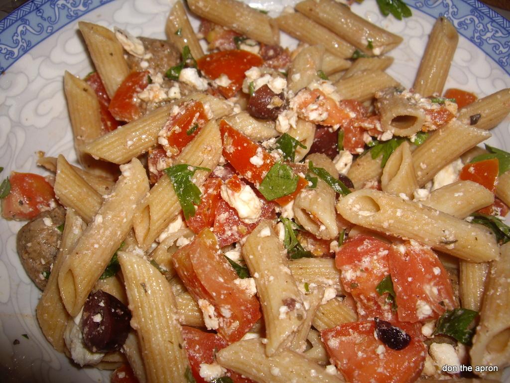 ... basil, parsley, tomatoes, chopped kalamata olives and feta. Packed