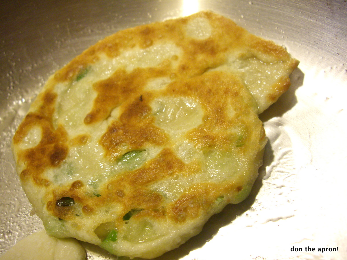 Chinese Green Garlic Pancakes | Don the Apron!