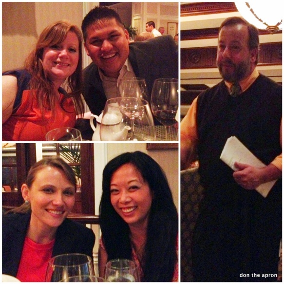 Wine dinner friends